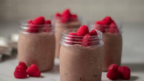 Chocolate Chia Seed Raspberry Yogurt