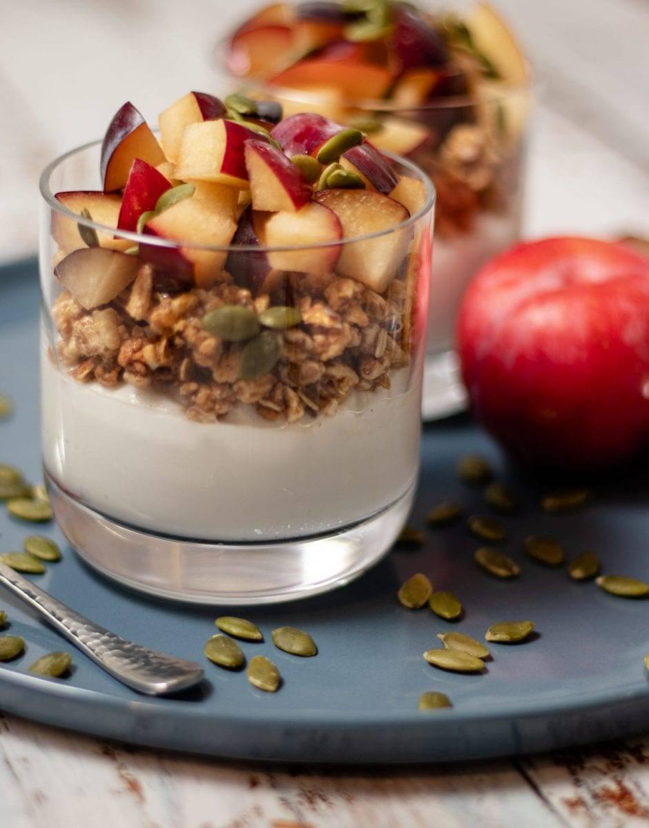 Plum Granola Yogurt Parfait