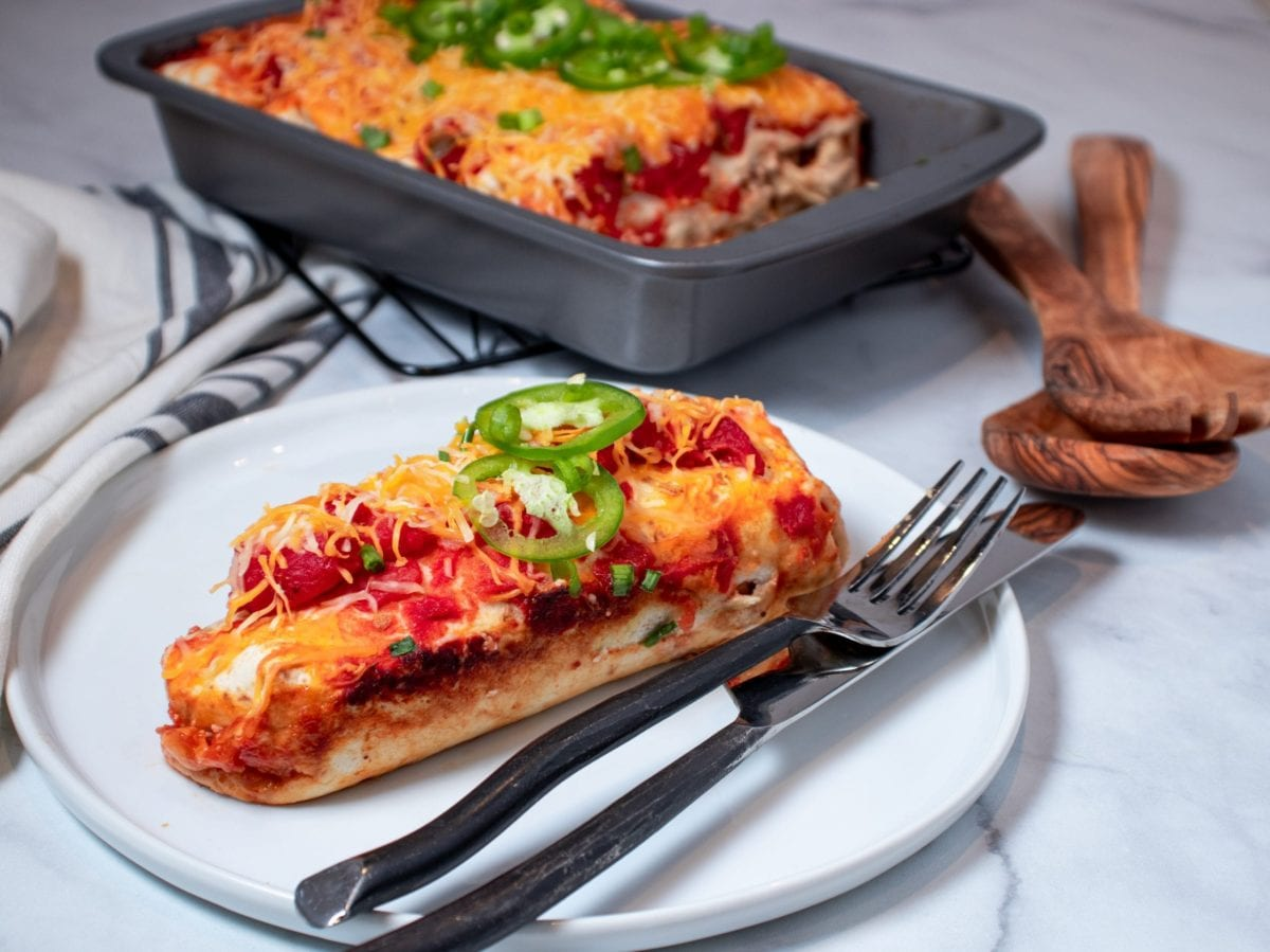 Chicken Enchiladas with Onions and Jalapenos
