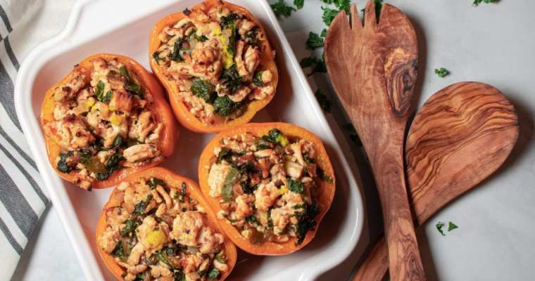 Turkey and Kale Stuffed Pepper