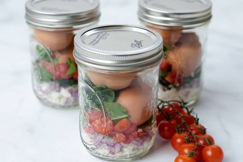 Greek Egg Mason Jar Meal Prep Counting Macros