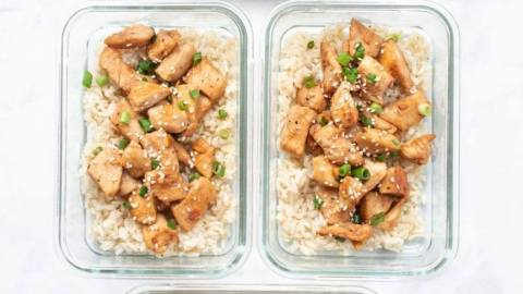 Honey Sesame Chicken and Rice Meal Prep Counting Macros Crossfit