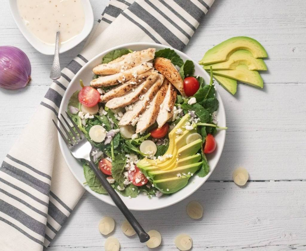 Kale Chicken and Hearts of Palm Salad Meal Prep Meal Planning Counting Macro