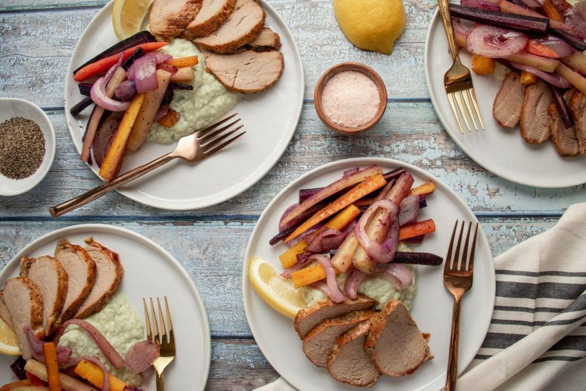 Pork Tenderloin with Rainbow Carrots