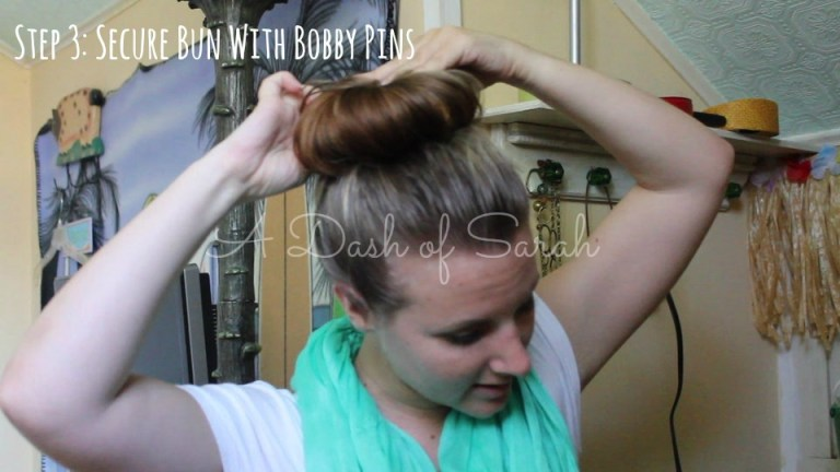 secure sock bun with pins