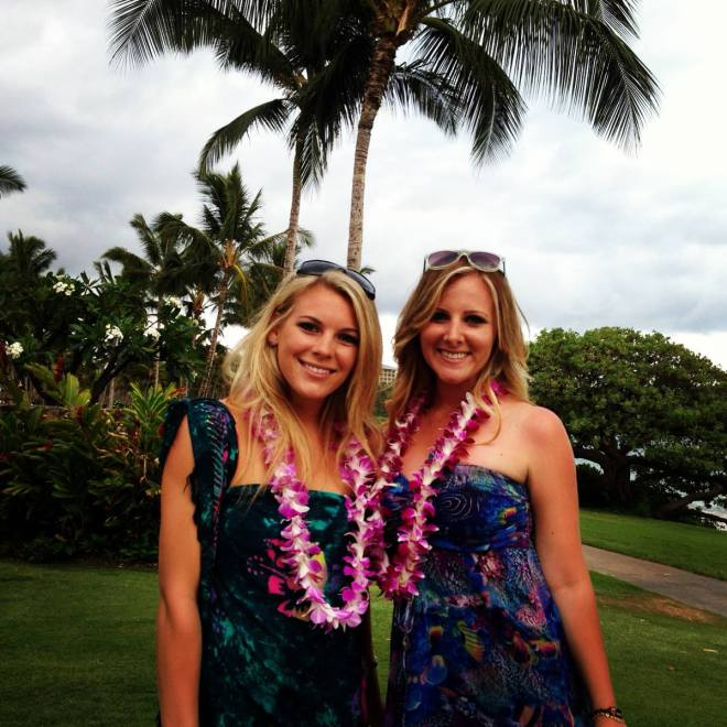 Brooke and Me at the Luau