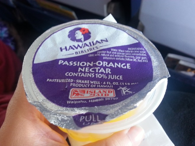 Pass-O Nectar on the Plane