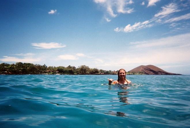 Maui coast behind me