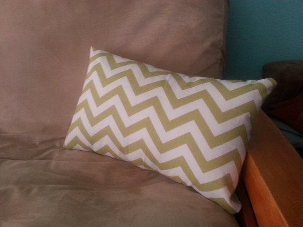 completed DIY pillow cover