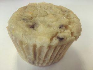 keto friendly blackberry lemon muffin