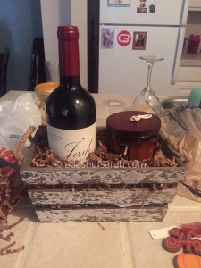 fall wine gift basket diy how to