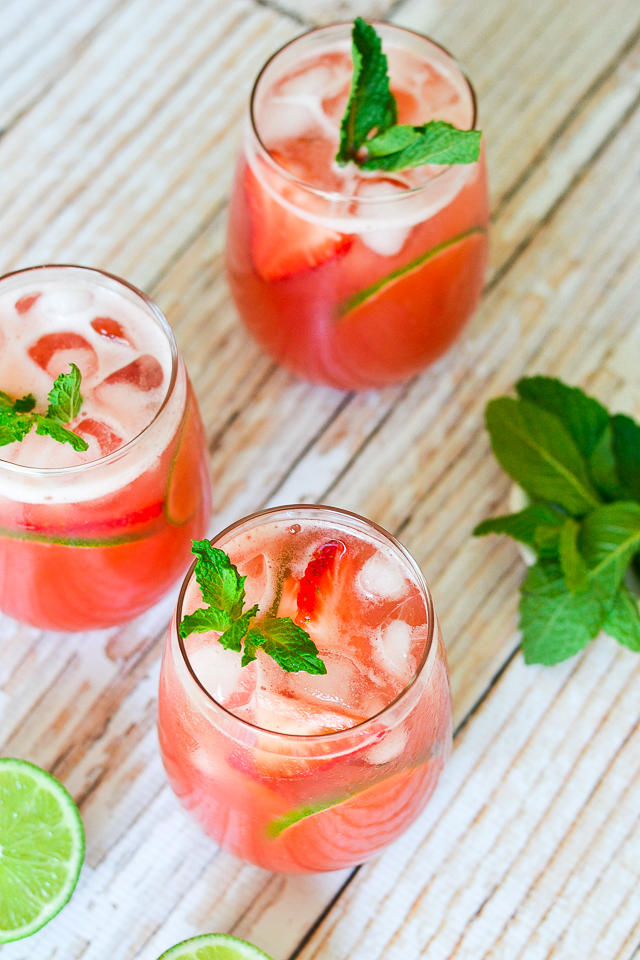 Delicious and SUPER refreshing drink made with fresh fruit and citrus juice!