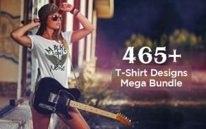465+ T-Shirts Design Mega Bundle