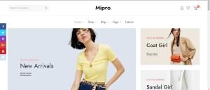 Mipro - Minimal WooCommerce WordPress Theme