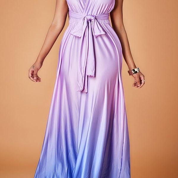 Lovely Trendy Loose Purple Evening Dress 2