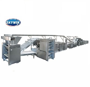 Skywin Industrial Model-400 Hard and Soft Cookies Biscuits Snack Food Machine Production Line for Making Bakery 2