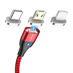 DHL Free Shipping FLOVEME Led Light 3A Magnetic Usb Data Fast Charging Cable For iPhone For Android Cell Phone 2
