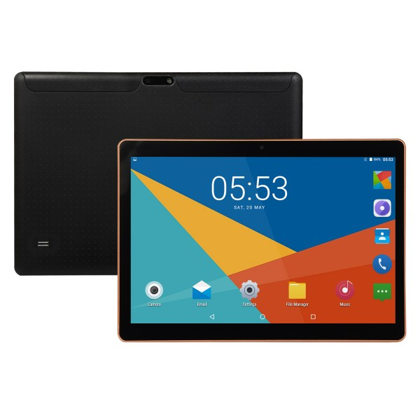 10.1 inch 4G-LTE Tablet Android 8.0 Bluetooth PC 6+64G 2 SIM with GPS Tablet  Black UK plug 2