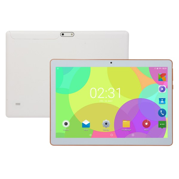10.1 inch 4G-LTE Tablet Android 8.0 Bluetooth PC 6+64G 2 SIM with GPS Tablet  White UK plug 2