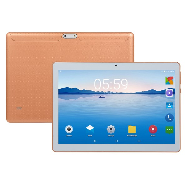 10.1 inch 4G-LTE Tablet Android 8.0 Bluetooth PC 6+64G 2 SIM with GPS Tablet  Golden US plug 2