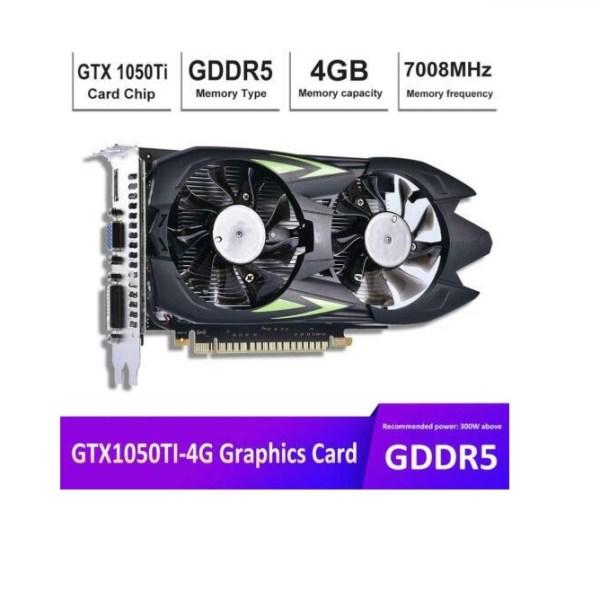 GTX1050Ti 4G D5 HD Game Desktop PC Graphics Card GTX1050TTI 2
