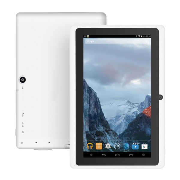 """7"""" Wifi 1024*600 Screen Tablet PC 512+8 EU Standard 3-axis Gravity Induction Tablet PC white_European regulations 2"""