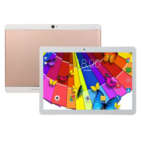 10.1 Inch Tablet Android 8.0 4+64GB Tablet PC with TF Card Slot and Dual Camera Rose gold_EU plug 2