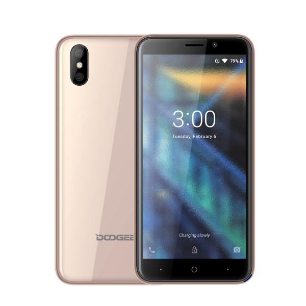 DOOGEE X50 5.0 Inch Fashion Elegant Quad-core Smart Phone Gold 2