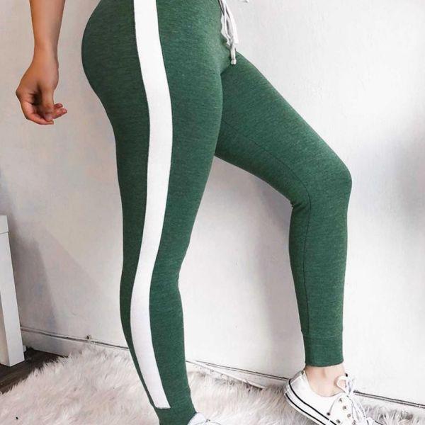 Colorblock Side Stripes Sporty Pants 2