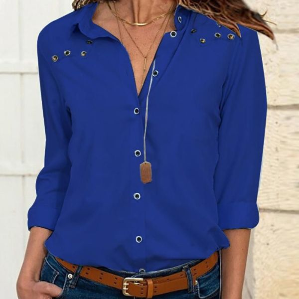 Solid Long Sleeve Bottoned Casual Shirt 2