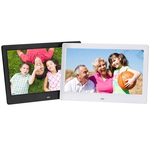 10.1 Inch Widescreen Digital Photo Frame HD Ultra-Thin LED Electronic Photo Album LCD Photo Frame-Black US Plug 2