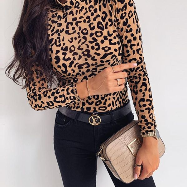 Leopard Print Long Sleeve Top 2