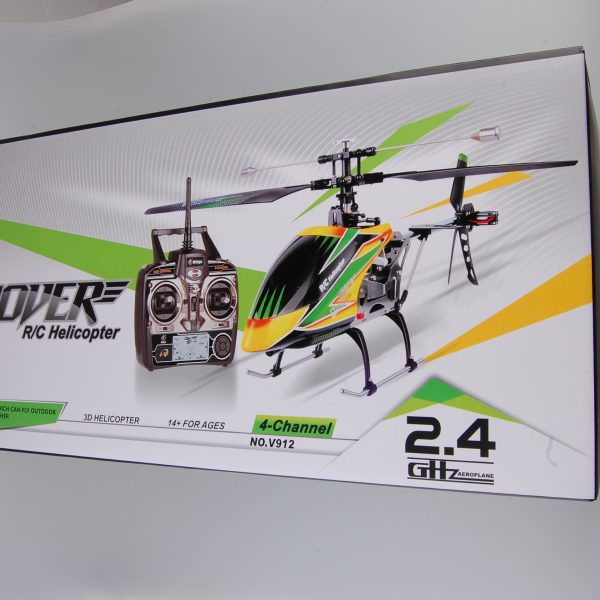 WLtoys Large V912 4CH Single Blade RC Remote Control Helicopter With Gyro RTF2001 2