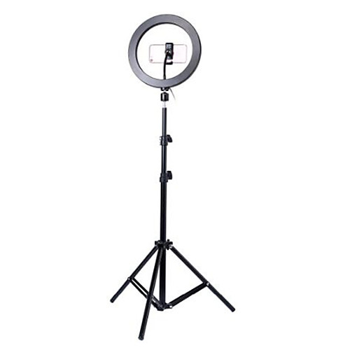 Photography led self timer ring light 26cm metal dimmable photography / mobile phone ring light with 110 / 160cm tripod for makeup video studio 2