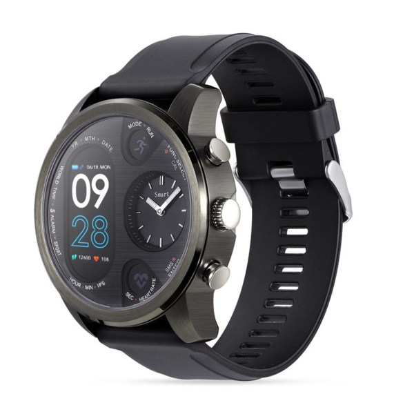 T3 Color Screen Smart Bracelet Heart Rate Blood Pressure Sleep Monitor - Black 2