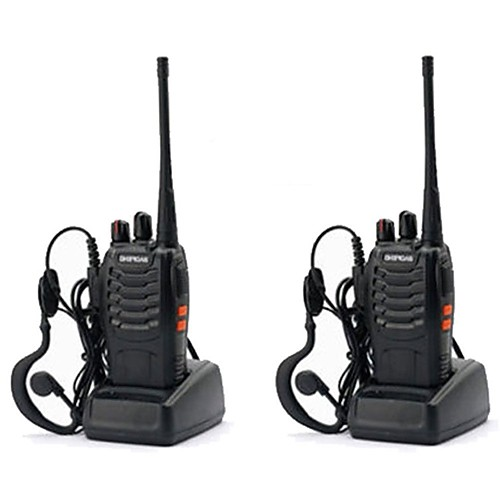 2PCS Baofeng BF-888S Walkie Talkie 888s 5W 2800mAh 16 Channels 400-470MHz UHF FM Transceiver 6m Two Way Radio Comunicador For Outdoor Racing(Give headphones) 2