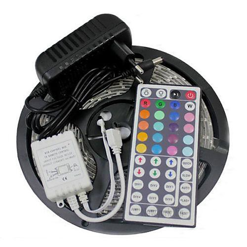 5m Flexible LED Light Strips / Light Sets / RGB Strip Lights LEDs 3528 SMD 8mm RGB Remote Control / RC / Cuttable / Dimmable 100-240 V / Linkable / Self-adhesive / Color-Changing / IP44 2