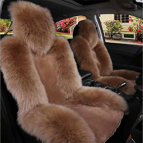 Black / Brown / Wine Wool Warm and Breathable Car Seat Covers Seat Covers Common For Universal Made of Australian Wool(Single Seat) 2