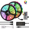 KWB 10m Light Sets 600 LEDs 5050 SMD 10mm RGB Remote Control / RC / Cuttable / Dimmable 100-240 V / Linkable / Self-adhesive / Color-Changing / IP44 3