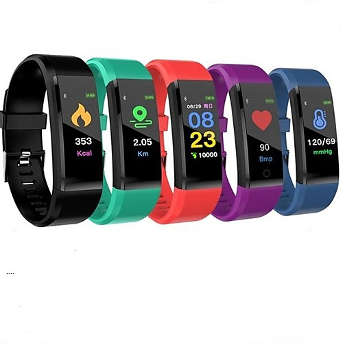 ID115 PLUS Smart Wristband Bluetooth Fitness Tracker Support Notify/ Heart Rate Monitor Waterproof Sports Smartwatch Compitable Samsung/ Iphone/ Android Phones 2