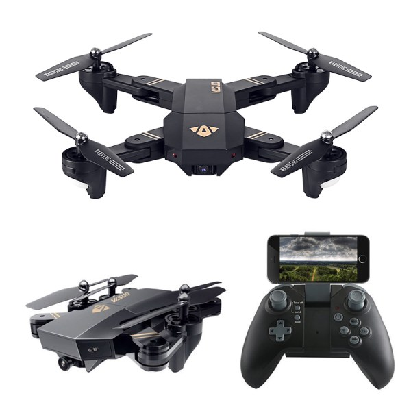 XS809W Foldable Drone - 2MP Camera, WiFi, Headless Mode, 3D Stunts, 3 Fight Speeds, 6 Axis Gyro, 100m Range, Remote Control 2