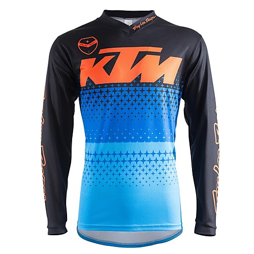 Motorcycle Long-Sleeved T-Shirt Motorcycle Jersey  Jersey Moisture Wicking breathable outdoor sport off-road motorcycle racing suit Quick-Drying Riding Suits 2