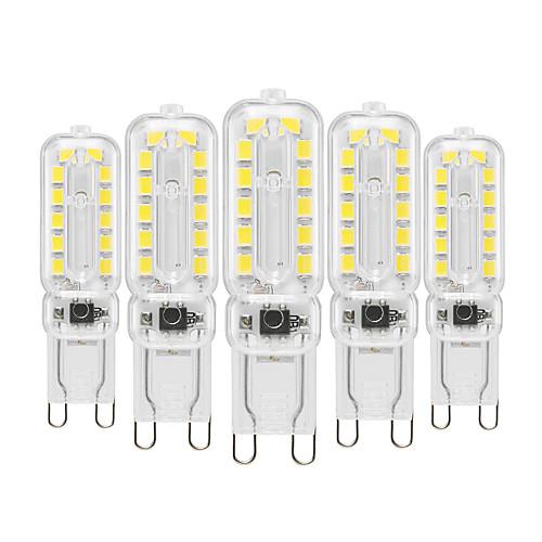 YWXLIGHT 5pcs 6 W LED Bi-pin Lights 450-550 lm G9 T 22 LED Beads SMD 2835 Dimmable Decorative Warm White Cold White Natural White 220-240 V 110-130 V / 5 pcs / RoHS 2