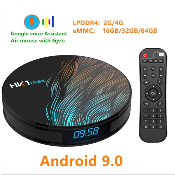 HK1 Max Android 9.0 4K Wifi Smart TV Box - 4GB RAM, 64GB ROM, UK Plug 2