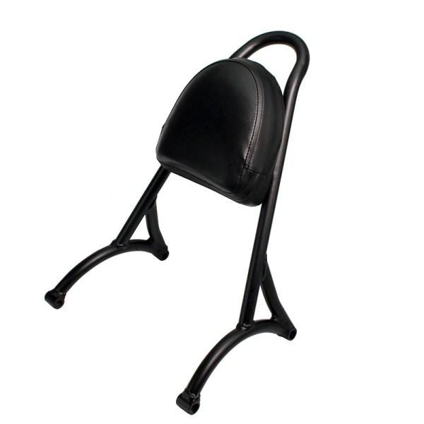 Motorcycle Steel Sissy Bar Passenger Backrest Cushion Pad Fit For Harley Sportster XL883 1200 48 04-15 black 2