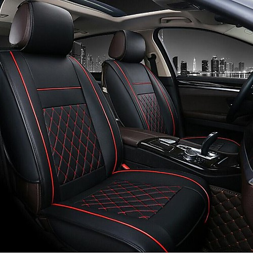Car Seat Covers Seat Covers Red / Black / Beige Leather Business For universal All years All Models 2