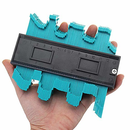 1Piece Accurate Contour Measuring Tool ABS Plastic Rust Measuring Tool Multifunction Gauge Instant Template 2
