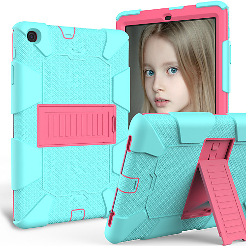 Case For Samsung Tablets Samsung Tab A 10.1(2019)T510 Shockproof / with Stand Back Cover Solid Colored TPU / PC 2