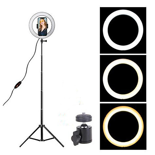 16cm LED Ring Light Photo Studio Camera Light Photography Dimmable Video light for Youtube Makeup Selfie with Tripod Phone Holder 2