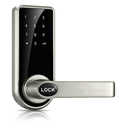 Door Lock Smart Lock Digital Deadbolt Electronic Lock Touchscreen Keypad Code Lock with 5 RFID Card for Villa Office Hotel Apartment Knob Handle Zinc Alloy Stainless Steel Smart Home Security System 2